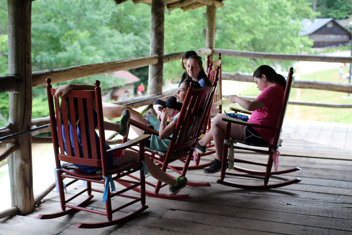 girl rocking chair camp