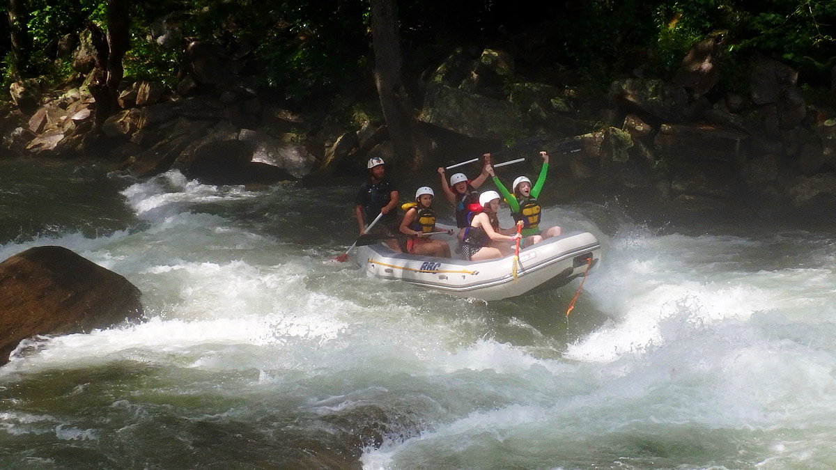 whitewater rafting celebration