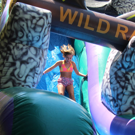 water slide inflatable camp