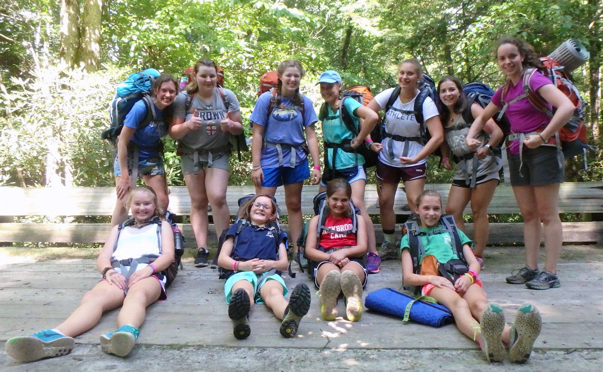 hiking camp girls