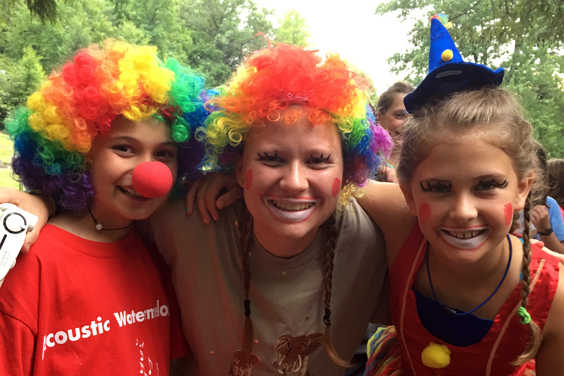 camp clown kids