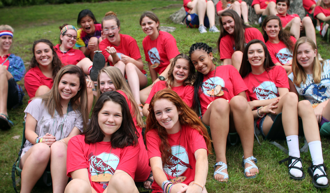 Teen girl camp assembly