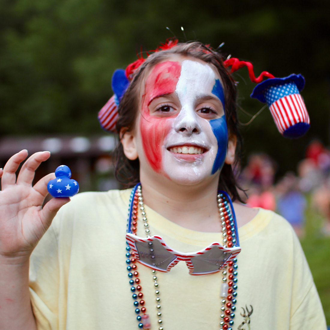 4th July face painted child