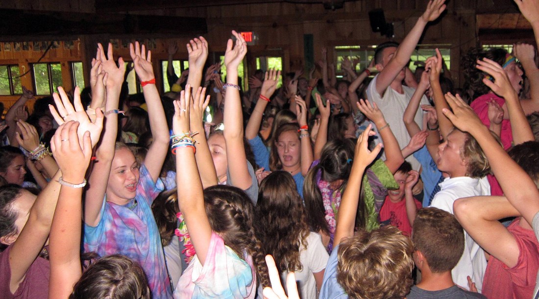 camp dance crowd