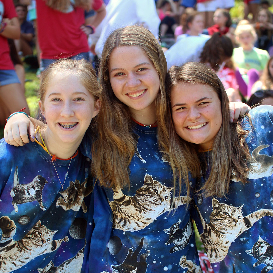 3 girl campers matching