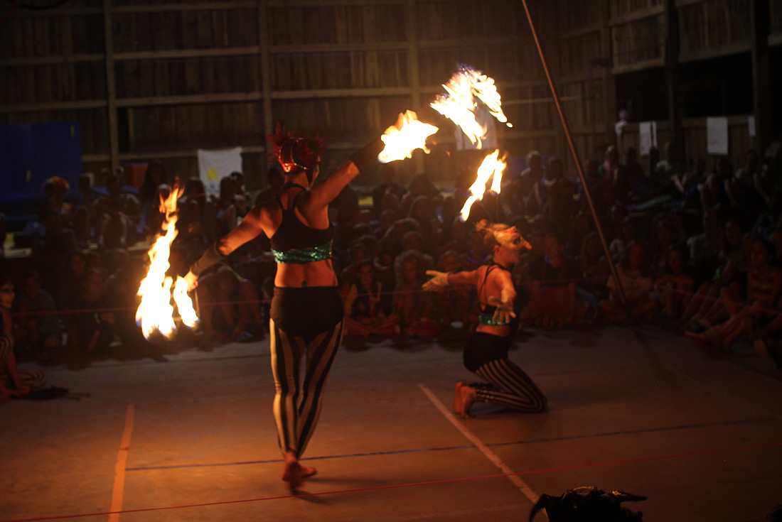 circus camp fire performance