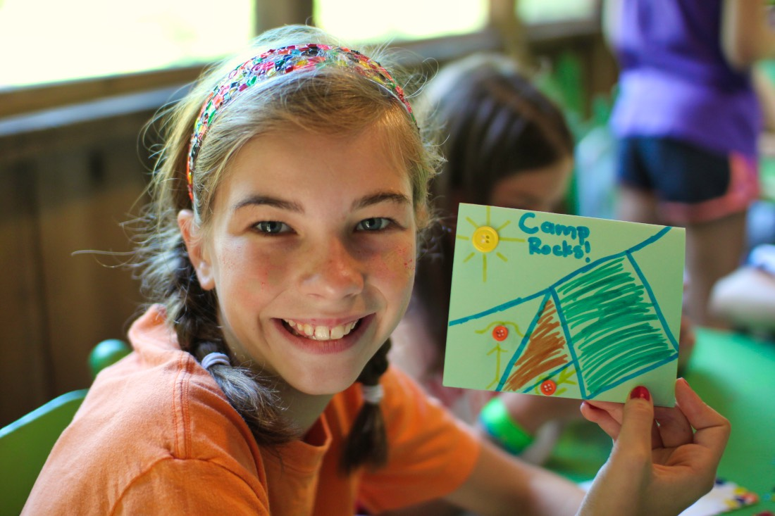 Girls camp craft project