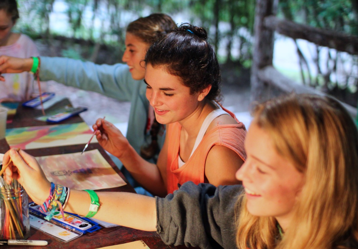 camp painting and drawing class