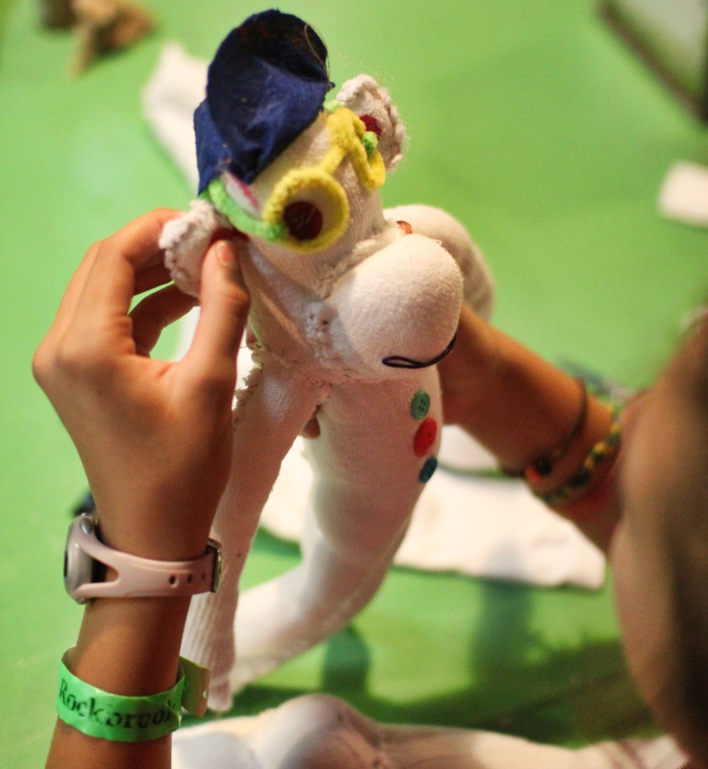 camp sock puppet project