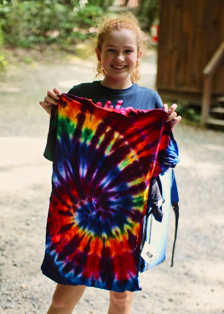 finished cool tie dye t-shirt