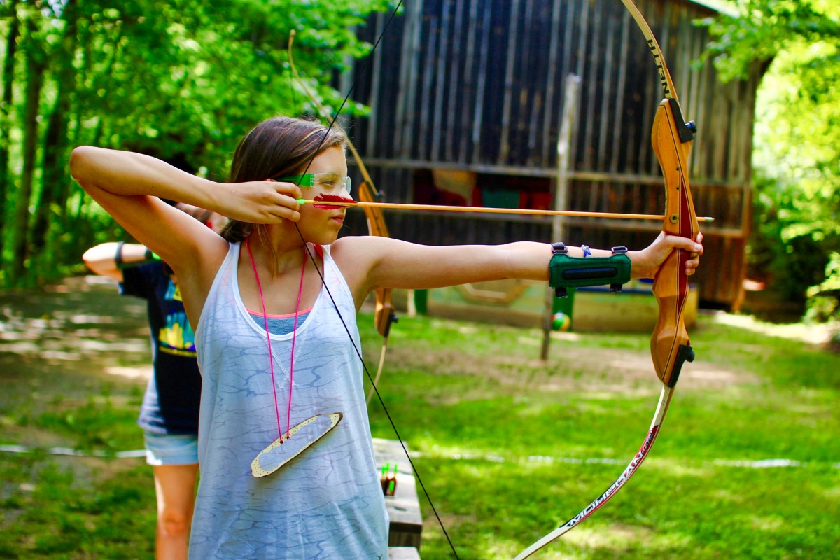 archery camping girl