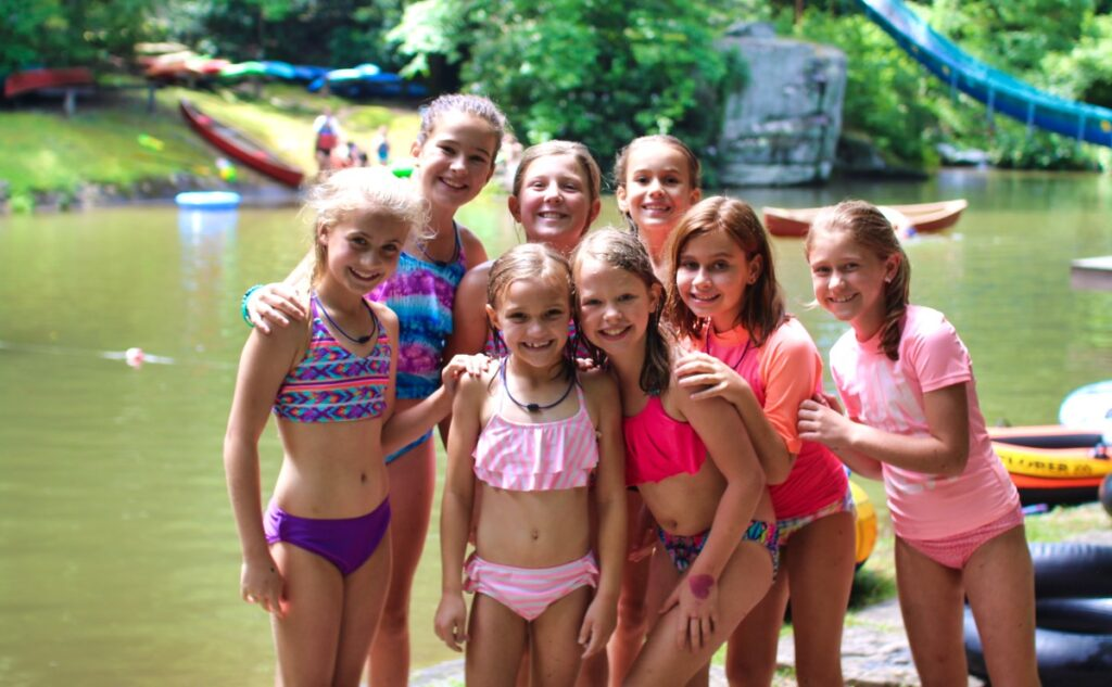 camp swimming girls