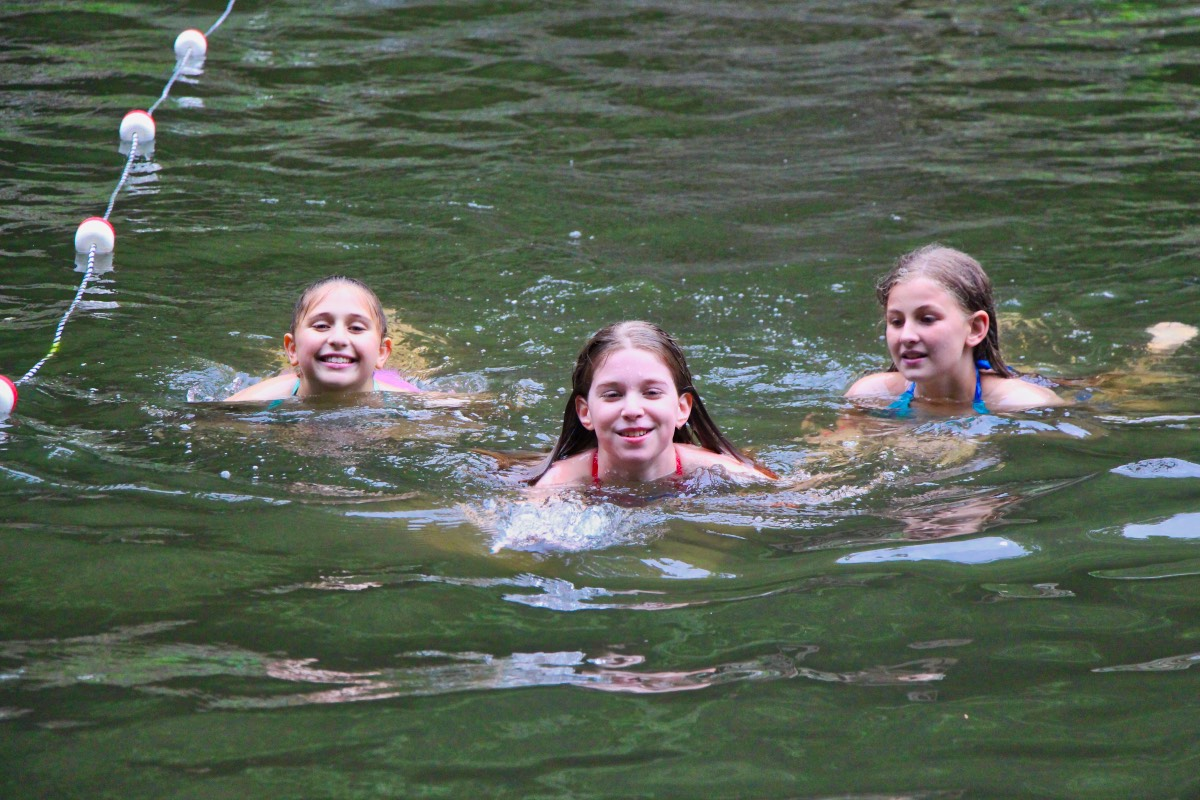 Camp Swimming Laps for Fun