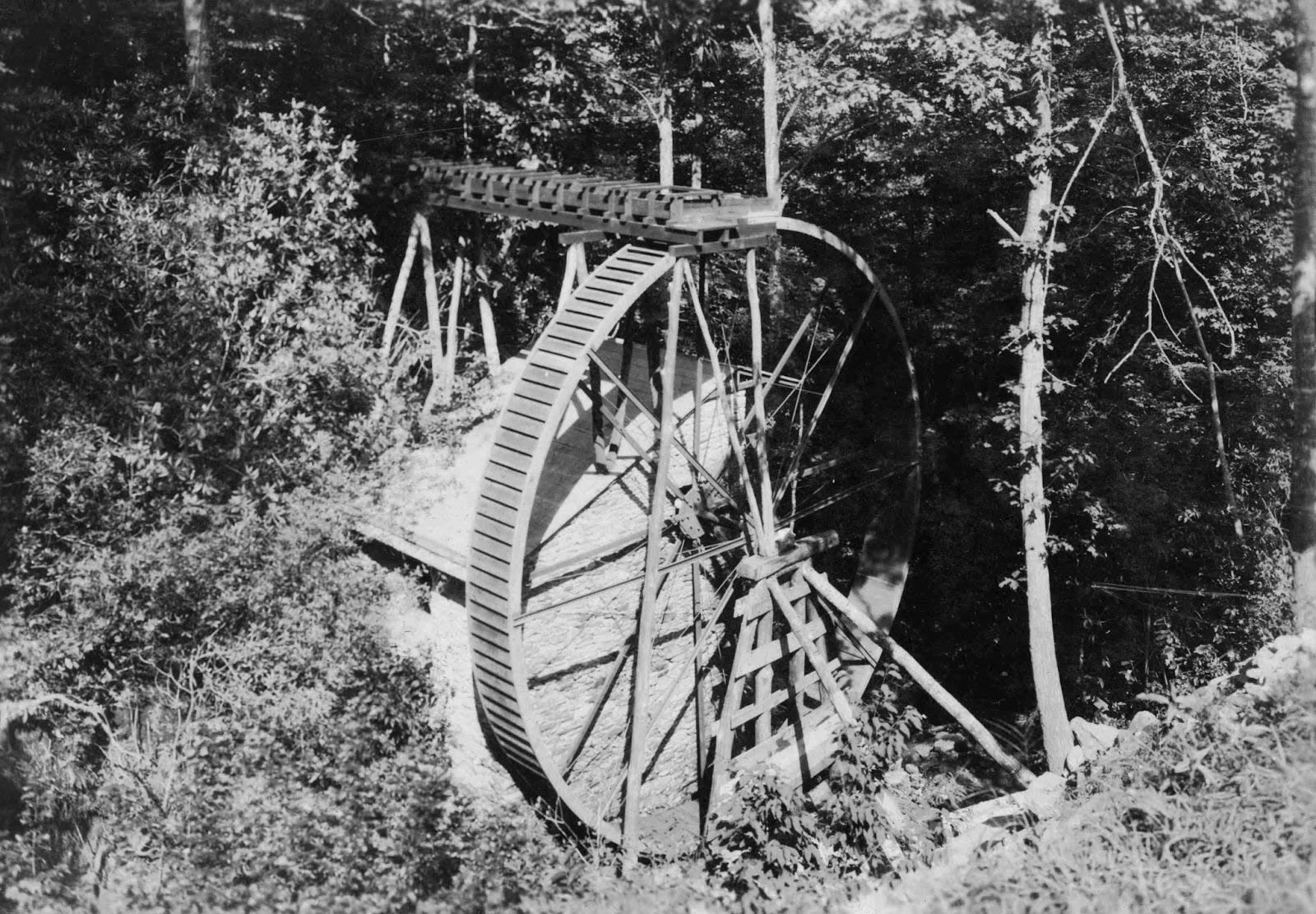 Rockbrook Camp water wheel