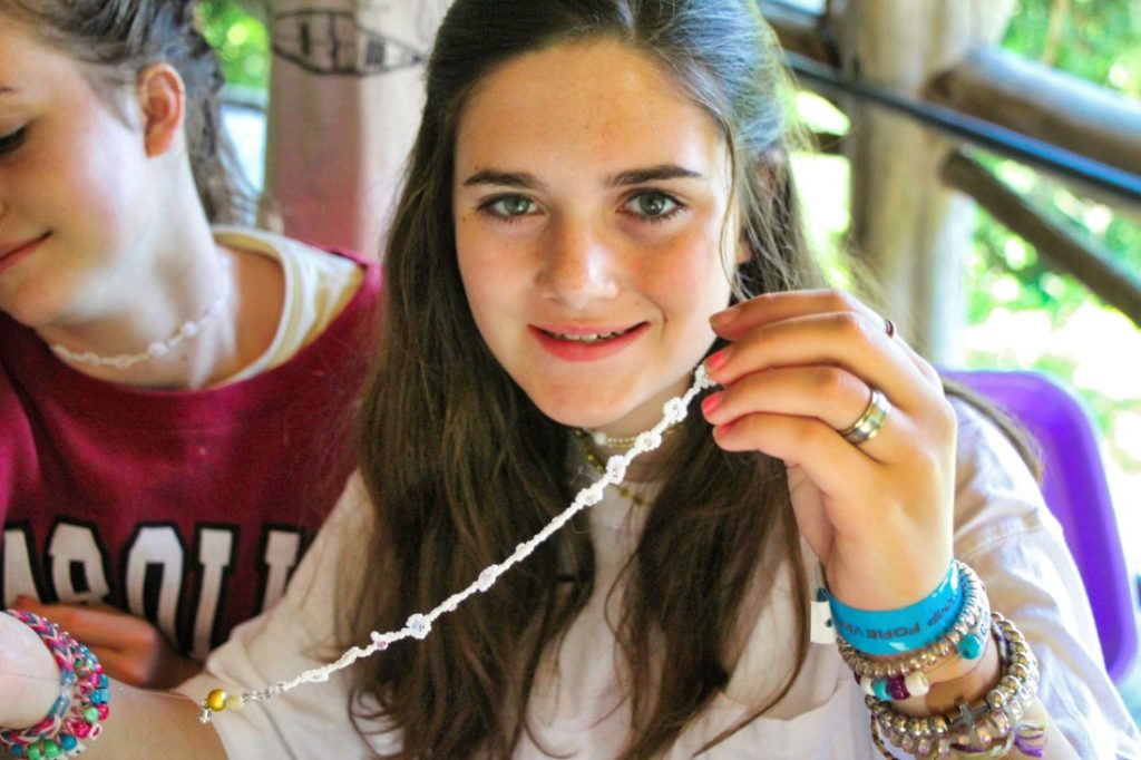 necklace camp girl