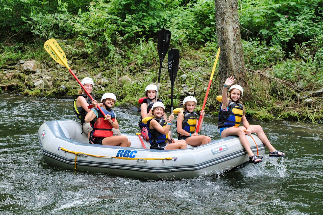 whitewater rafting children