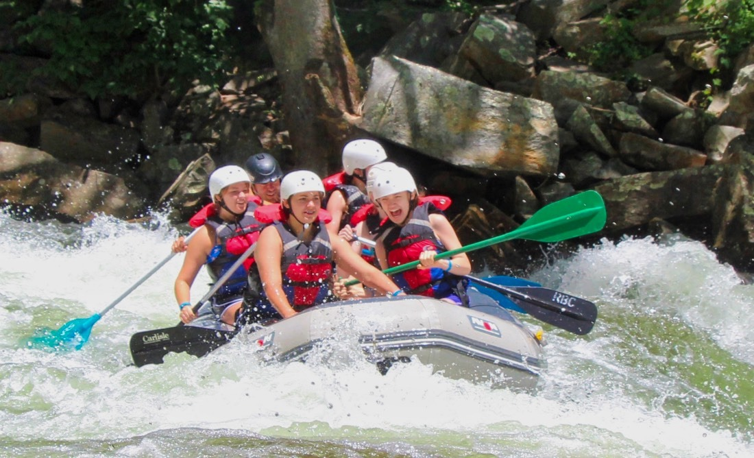 whitewater rafting smiles