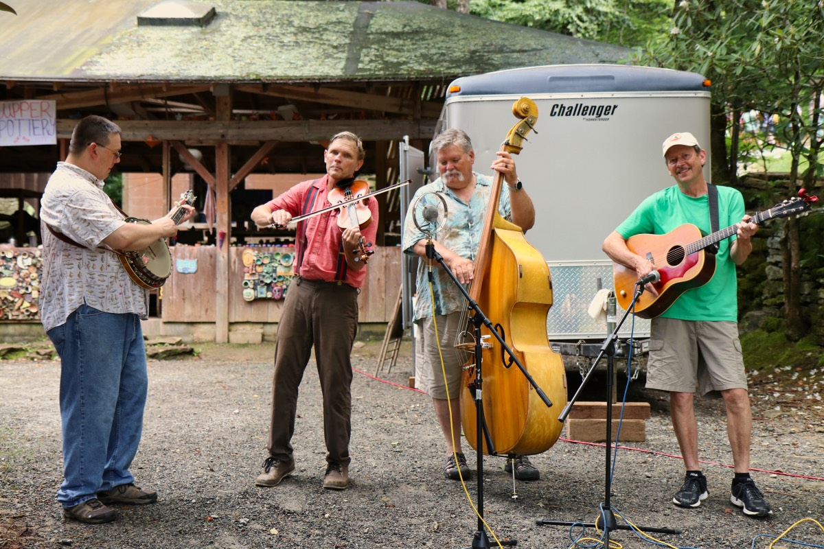 crooked pine band playing outdoors