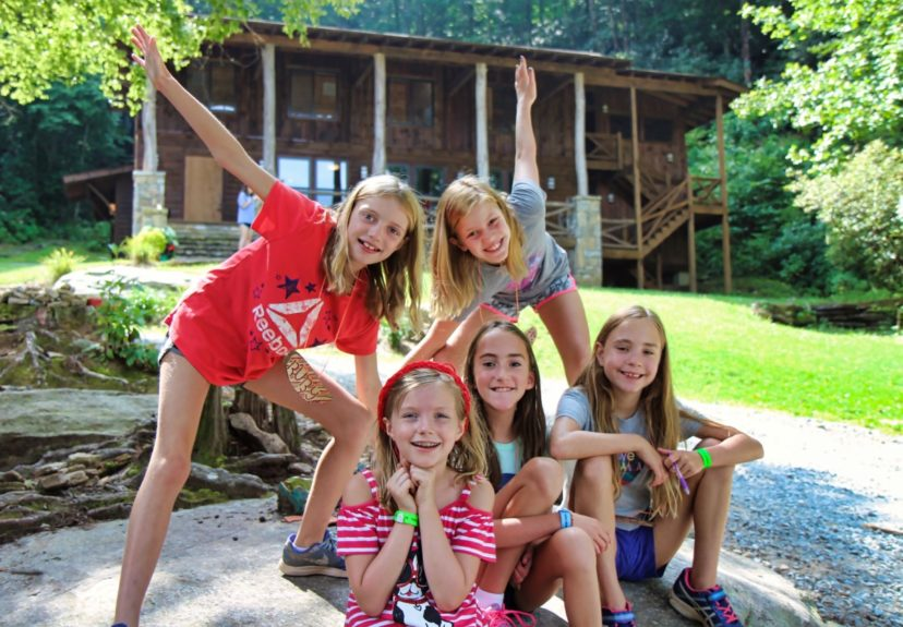 girls camp group