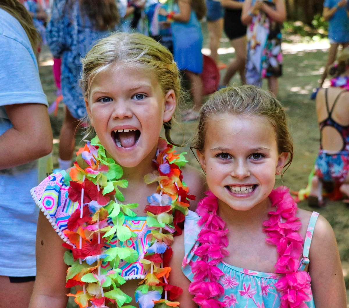 luau party camp girls