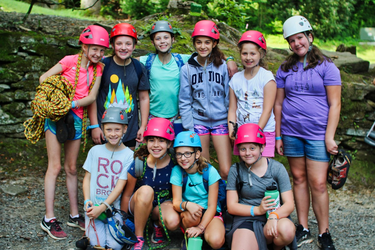 rock climbing girl campers