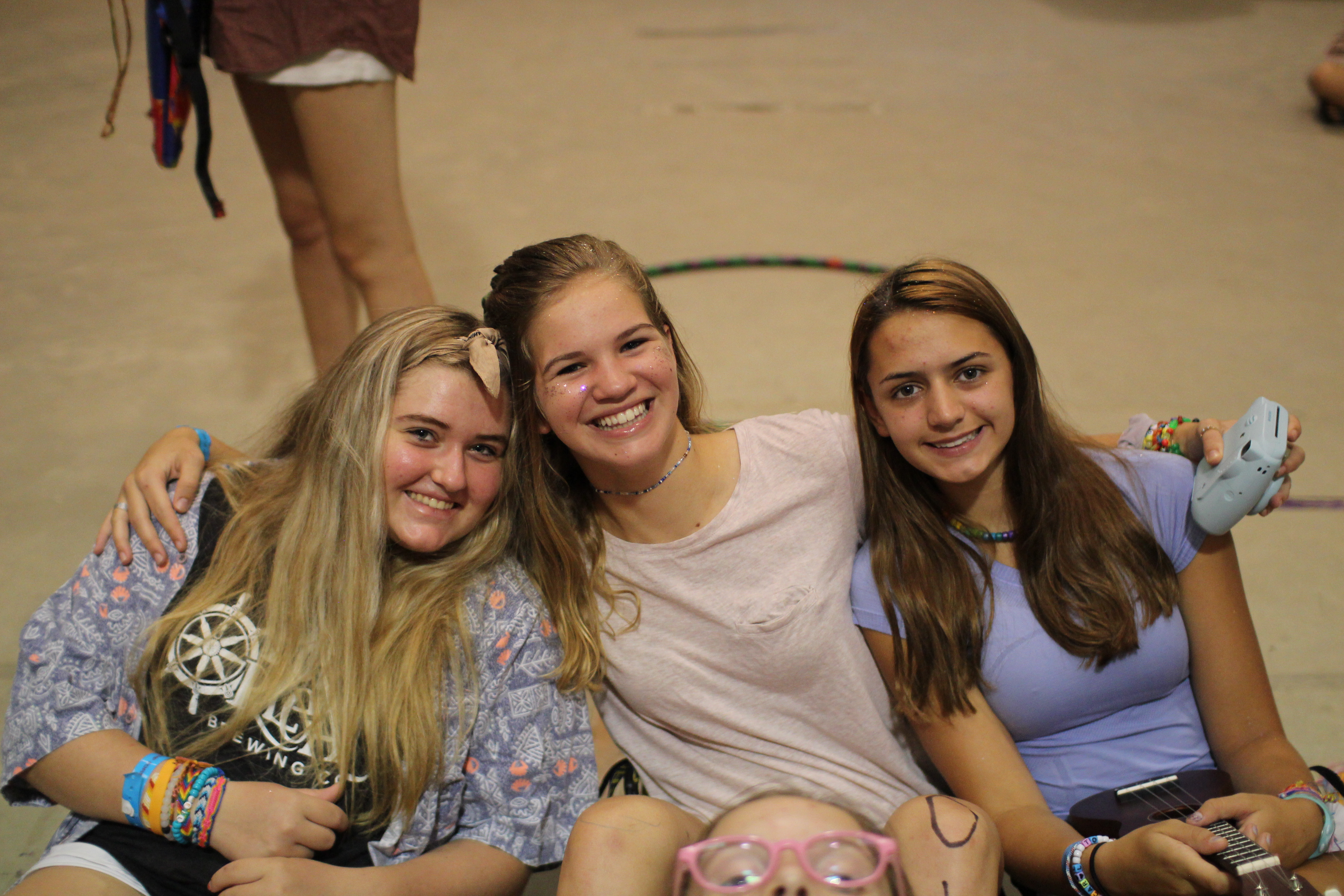 teen girl friends at camp