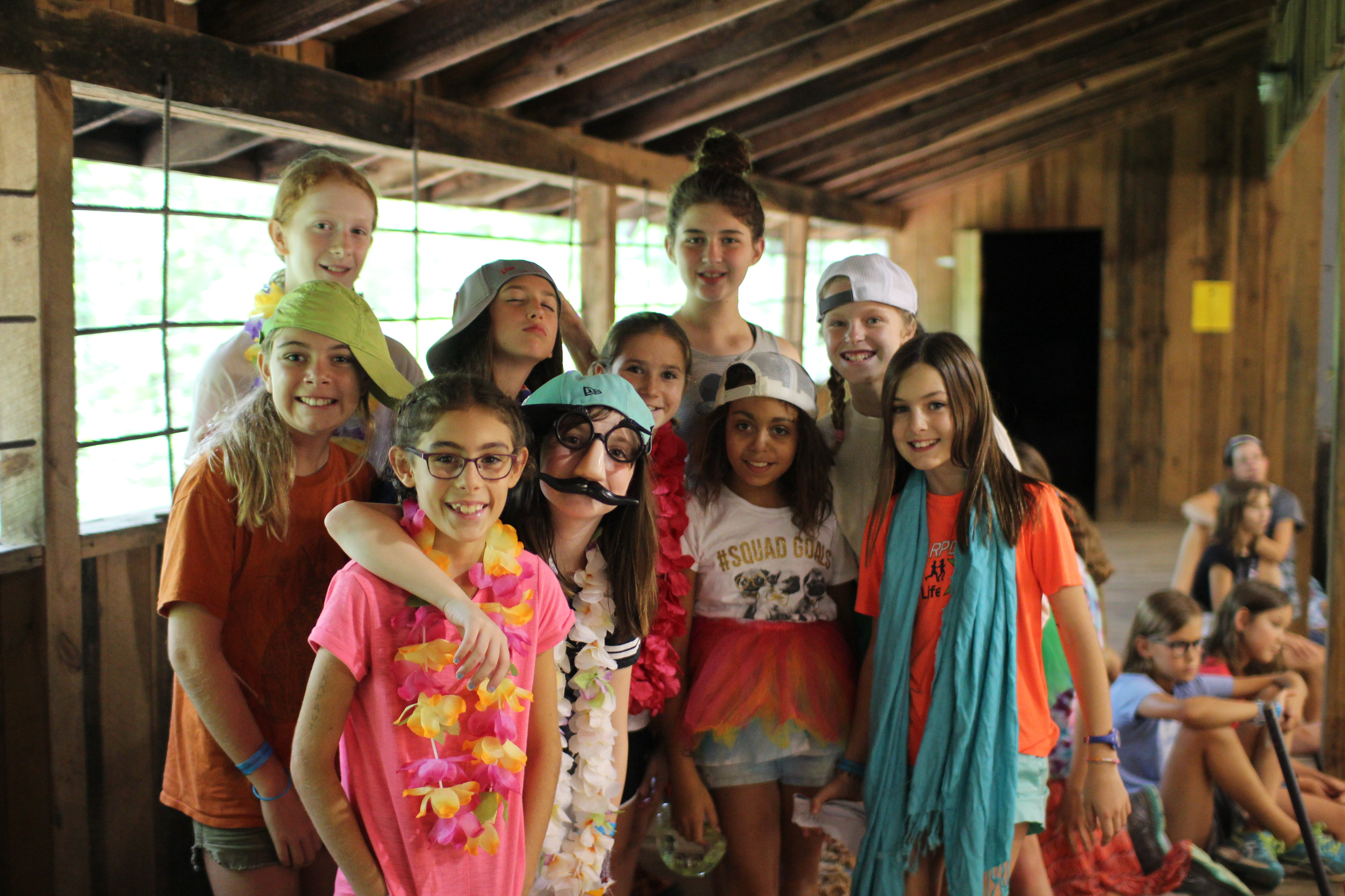 summer camp girls ready for a skit