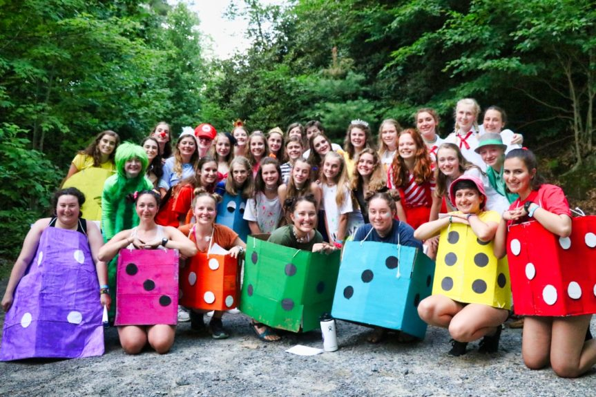 camp banquet costumes for girls