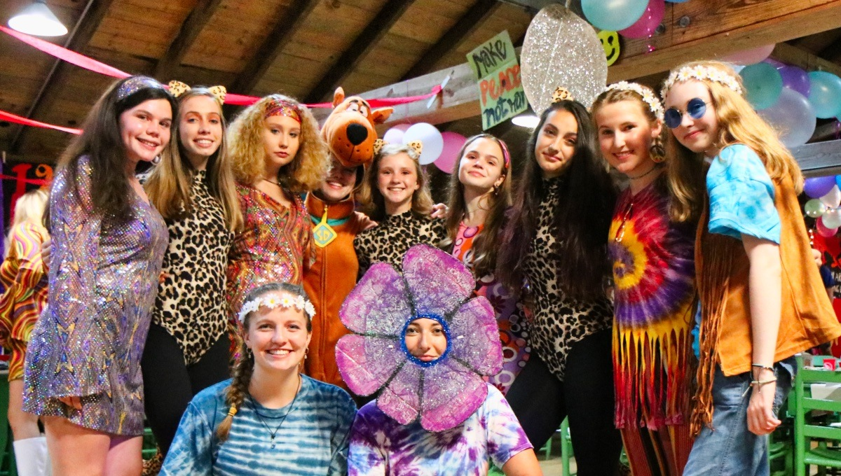 camp 1970s costume party