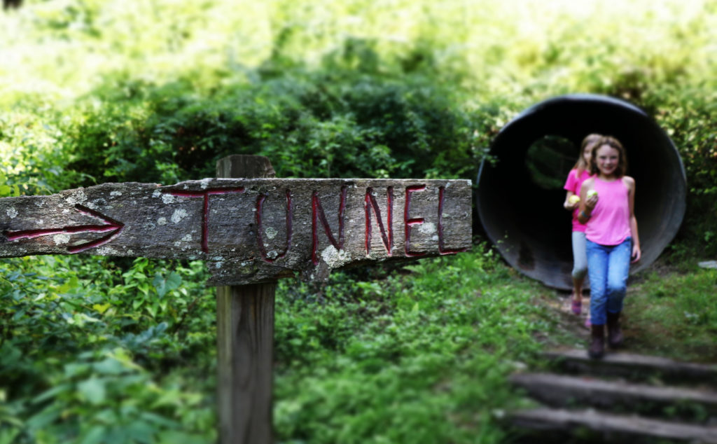 Tunnel at summer camp