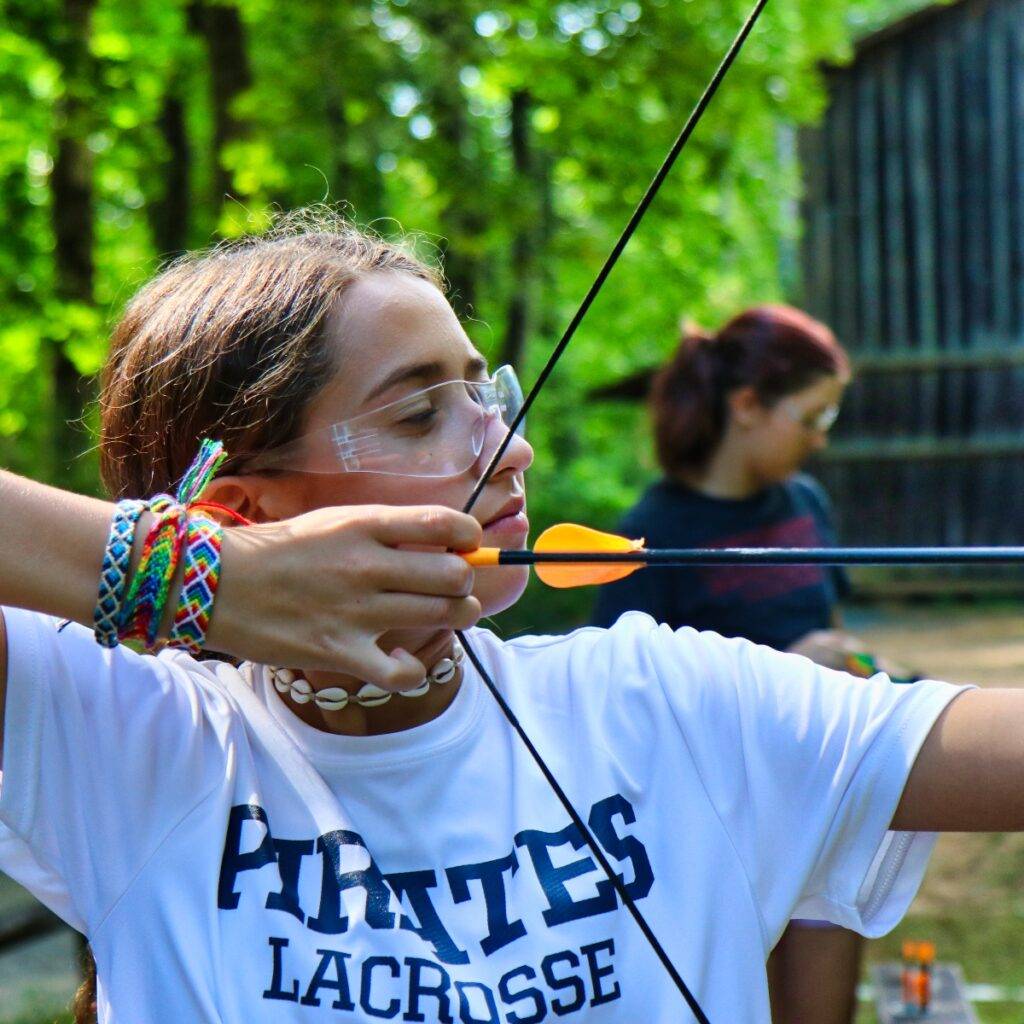 archery girls wearing bracelets