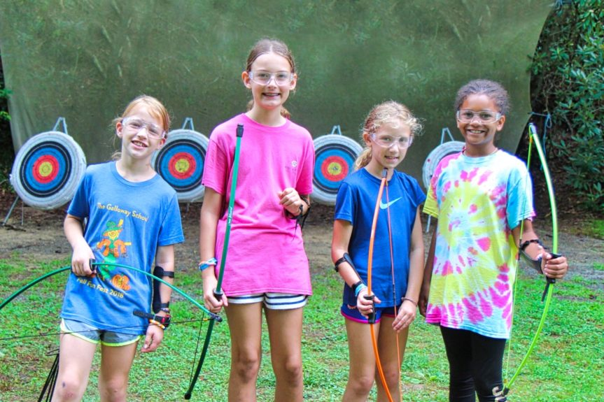 archery girl campers