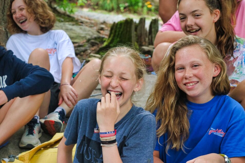 Camp bonding with friends