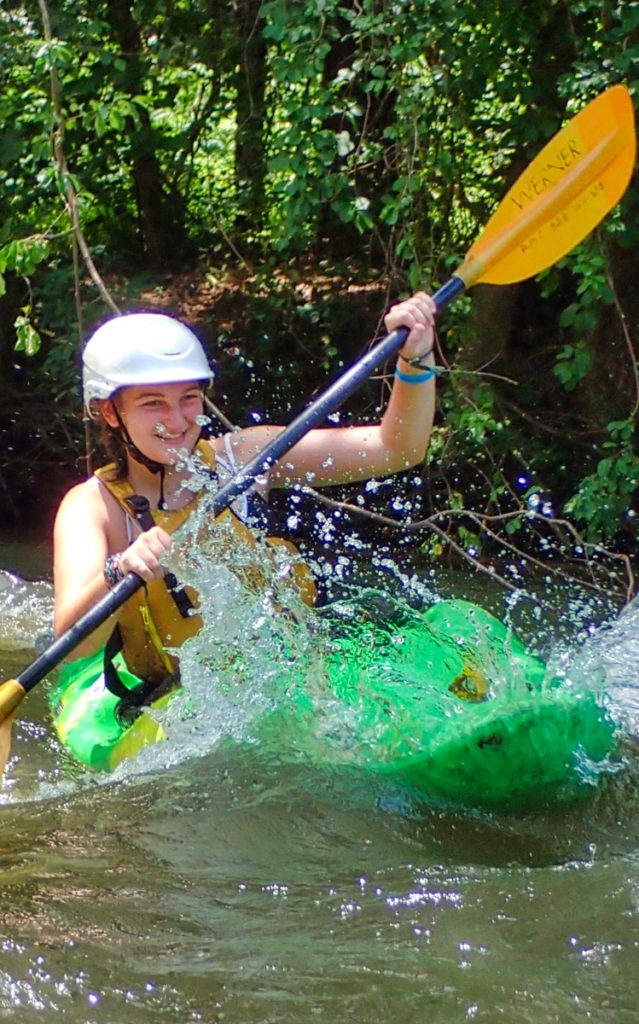 kayaking camp child