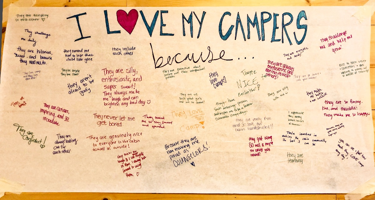Counselors Love Campers