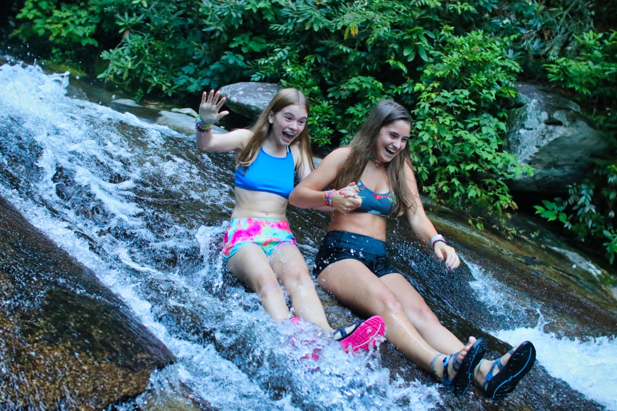 sliding rock girl buddies