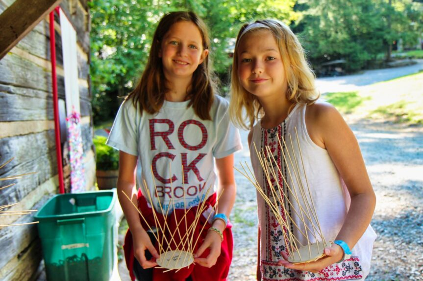 basket weaving camp kids