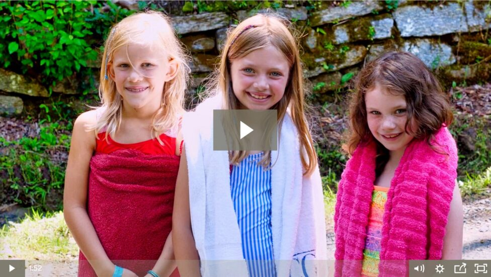 Rockbrook Camp Video Thumbnail of three cute girls