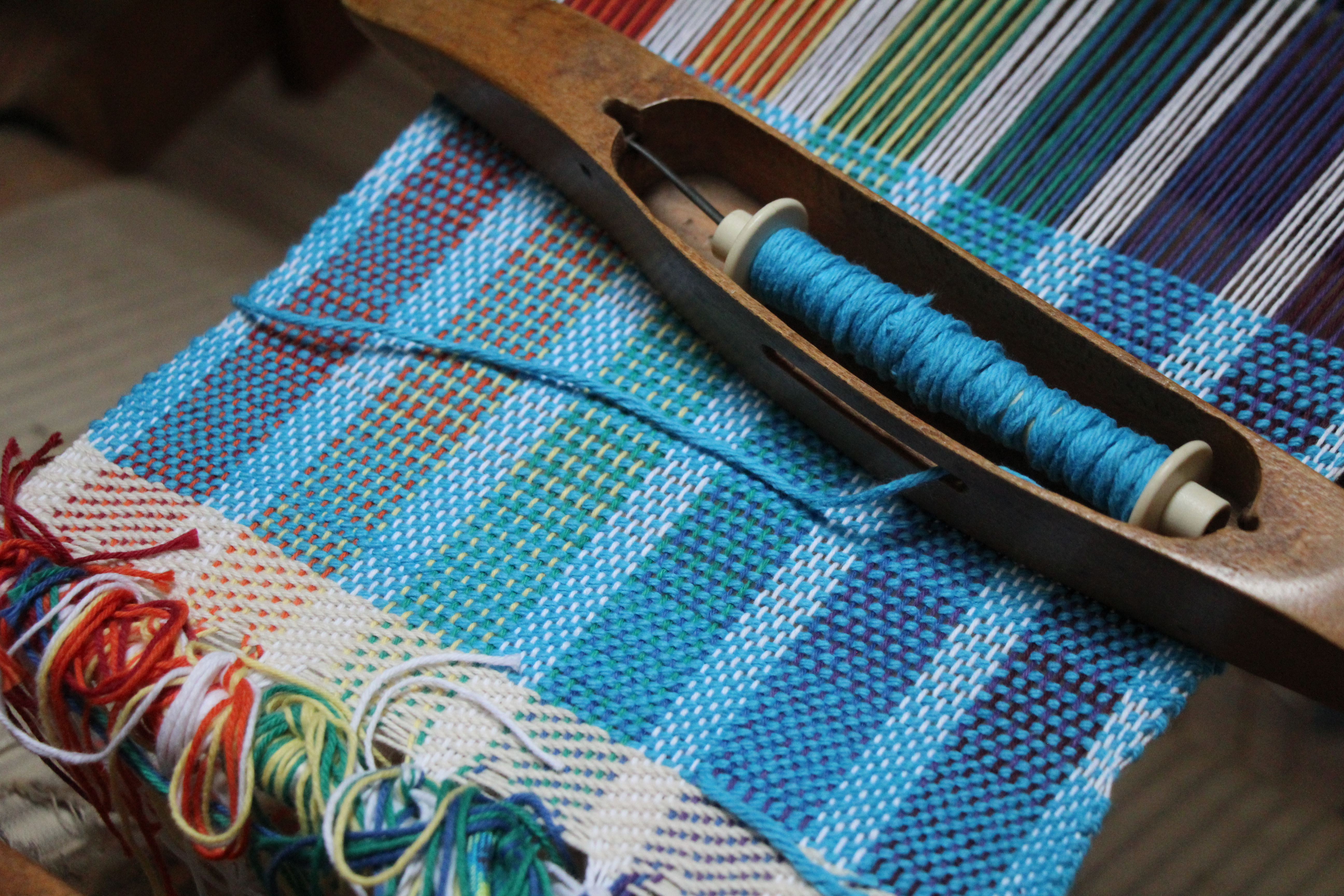 rockbrook weaving project for kids