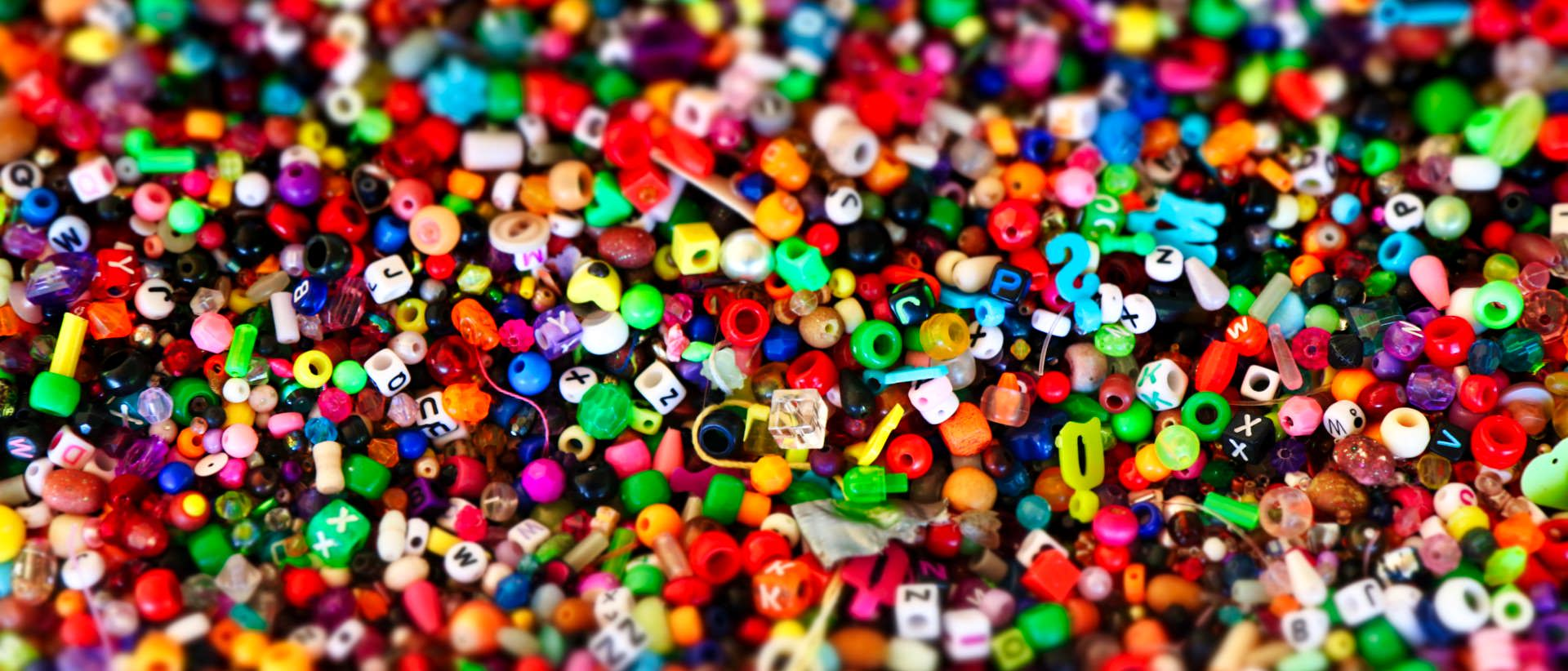 collection of random beads for jewelry making