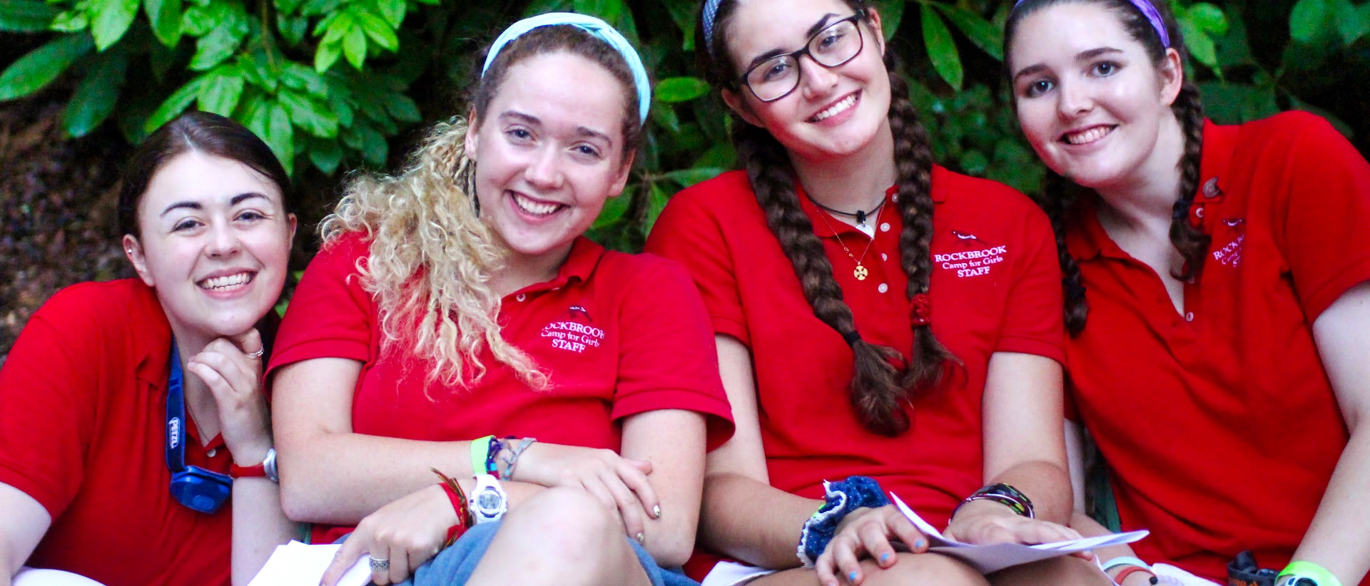 female camp counselors in uniform