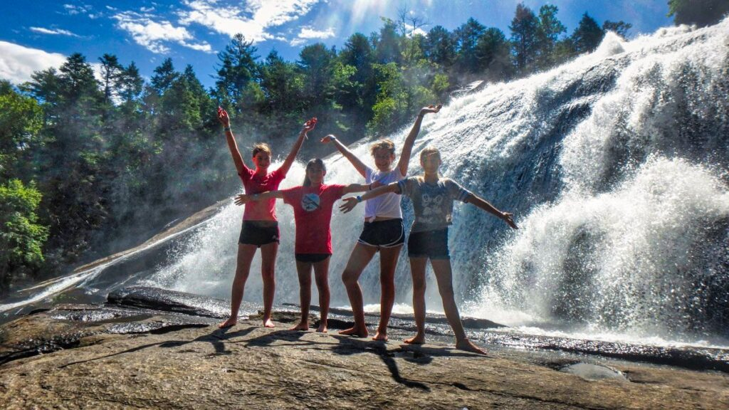 camp-girls-waterfall