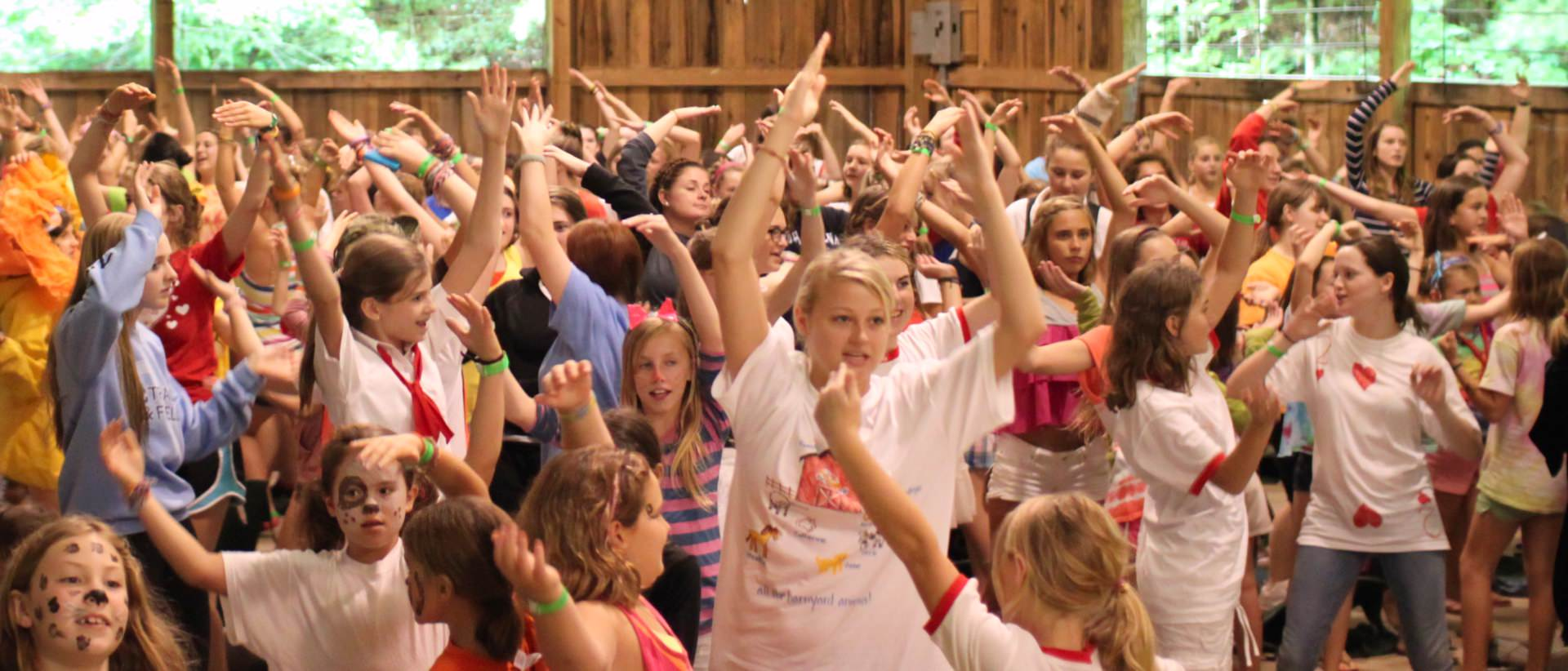 crazy camp group dance