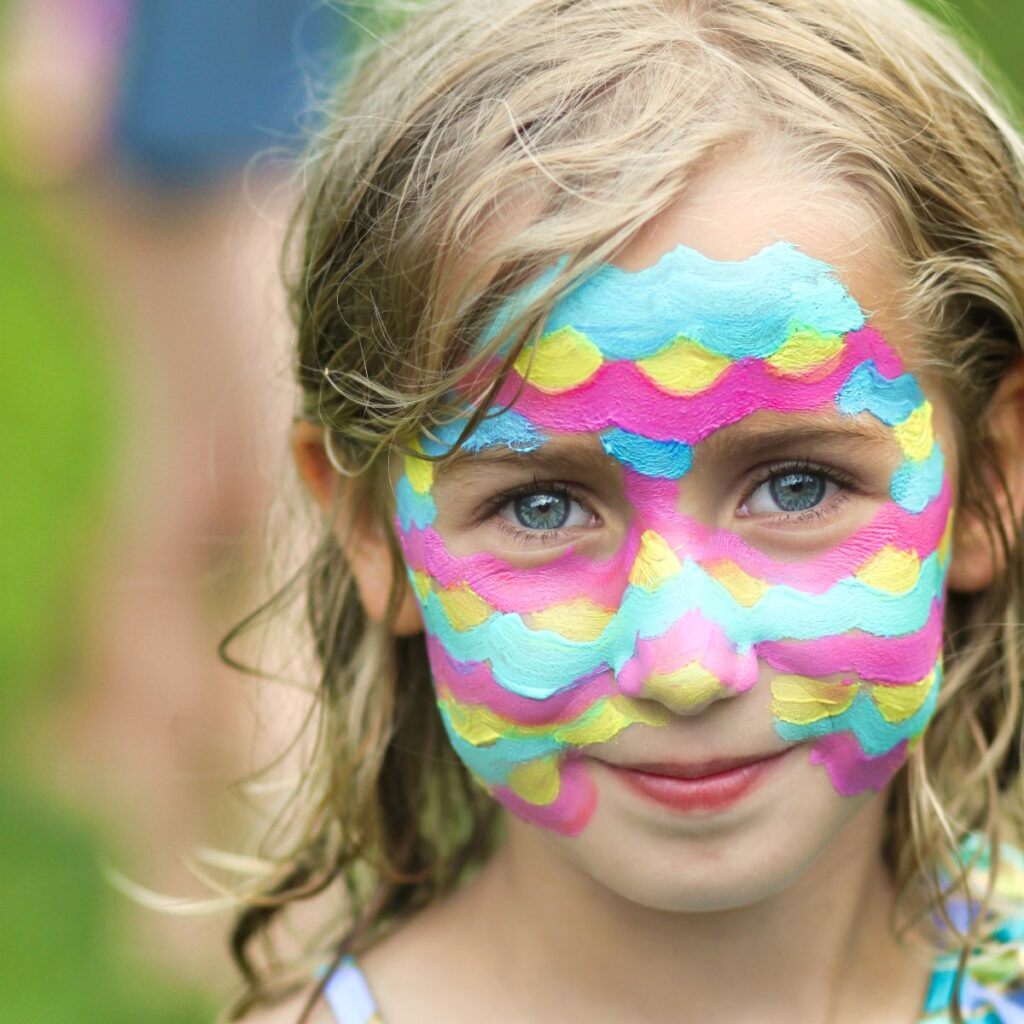 face painted girl