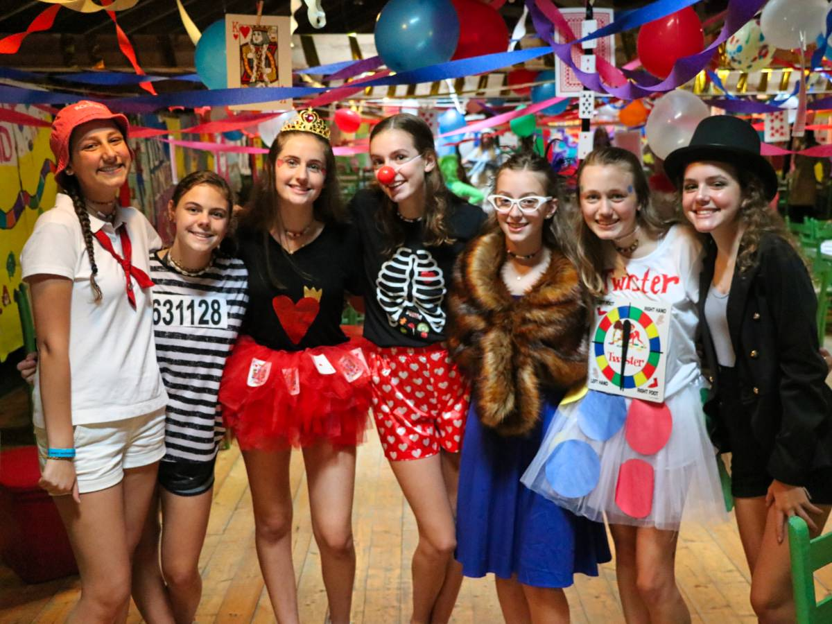 camp girls party costume banquet