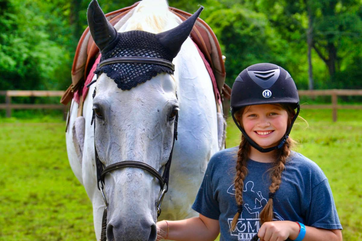 proud camp equestrian girl