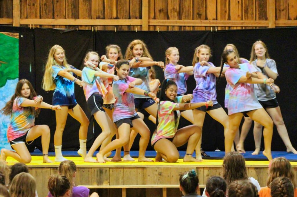 Teen dance camp group
