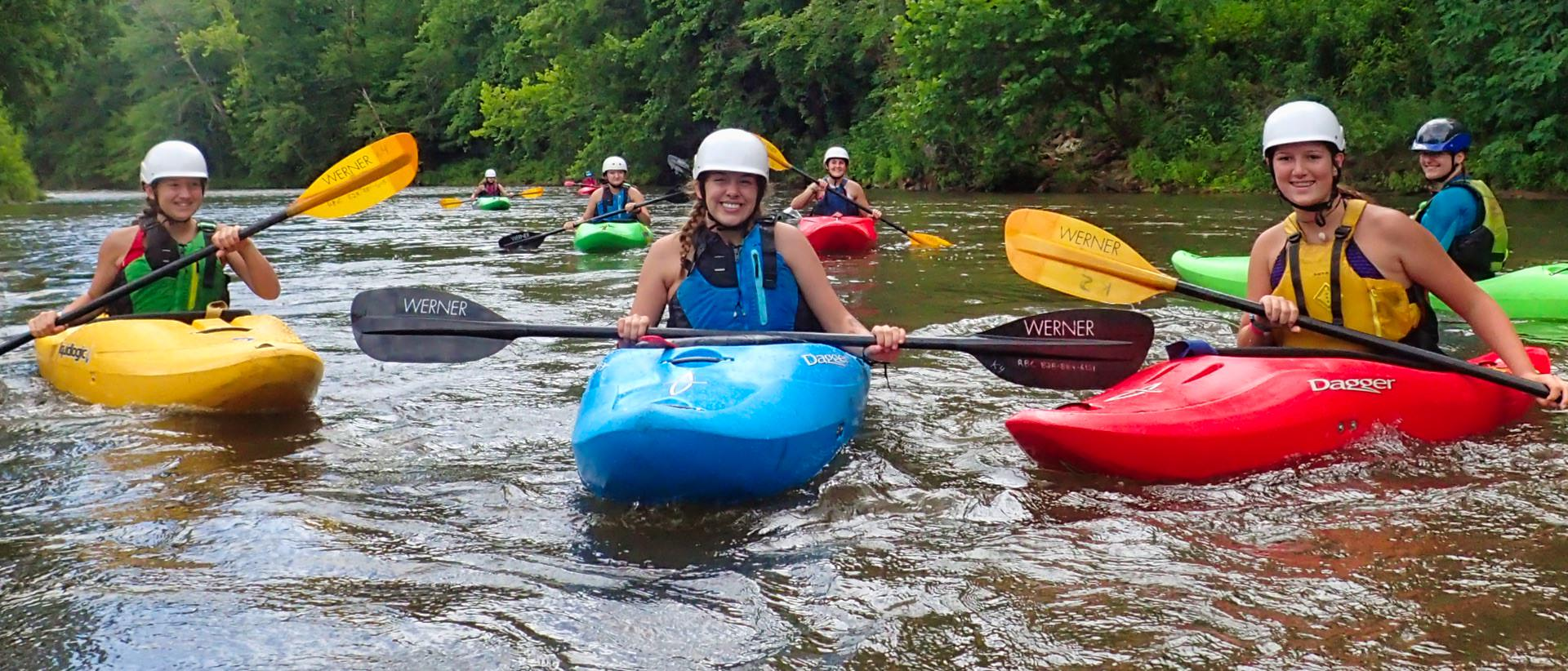 whitewater kayaking summer camp