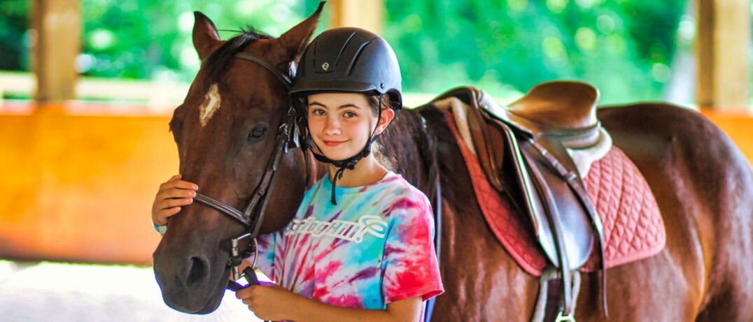 horse camp girl at rockbrook