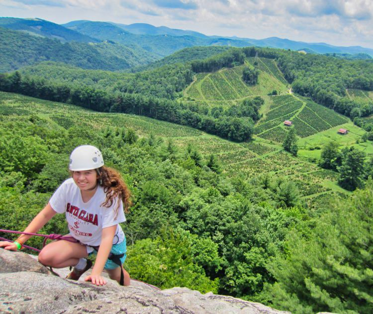 girl high on north carolina rock